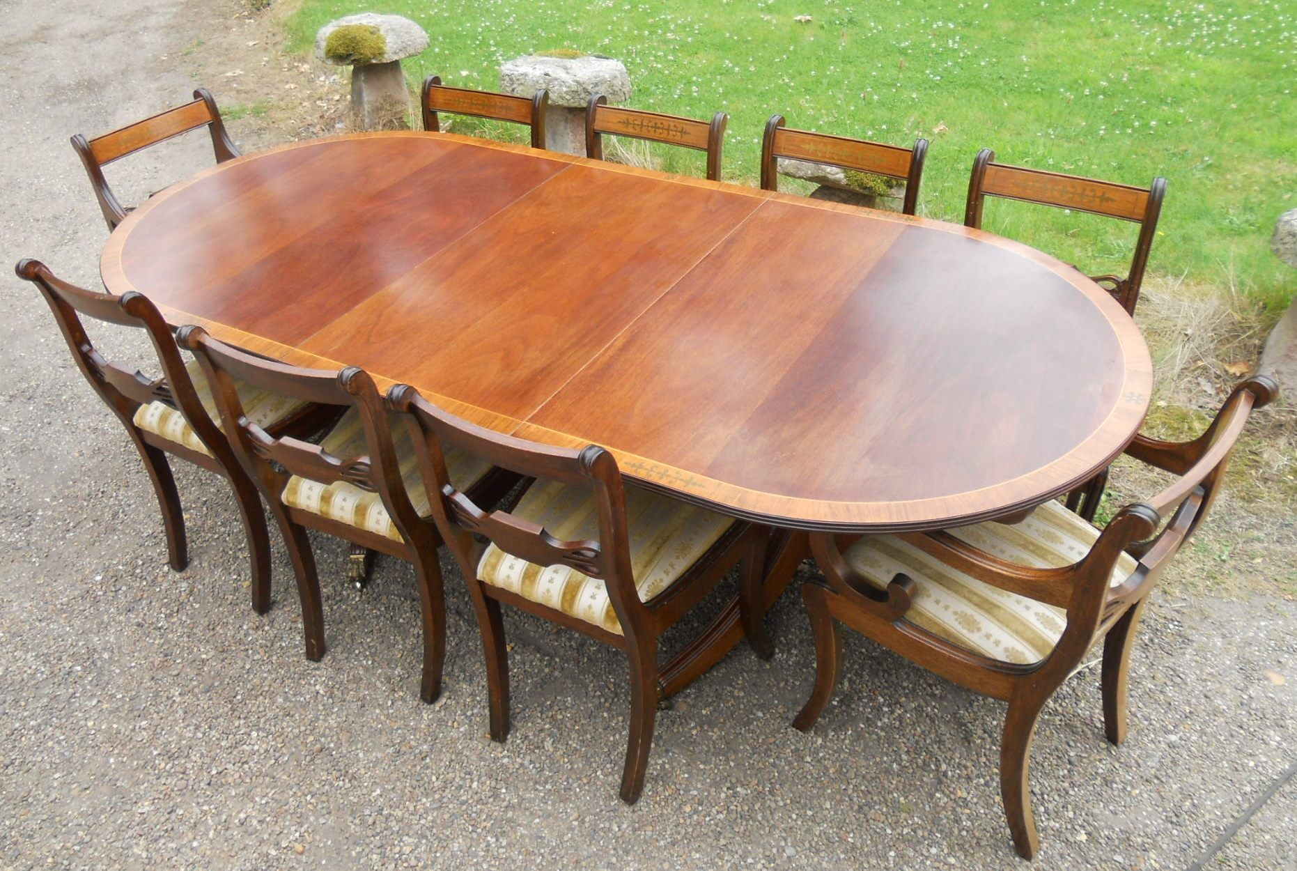 100 Mahogany Dining Room Table Bernhardt Queen Anne